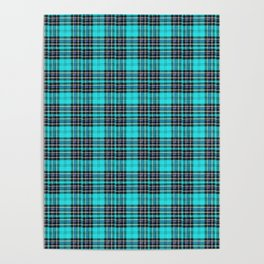 Lunchbox Blue Plaid Poster