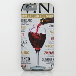 Vintage Various Wines Advertisement Wall Art iPhone Case