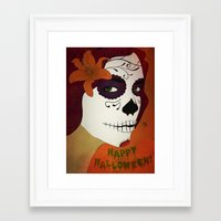 calavera Framed Art Prints featuring Calavera by Eveline