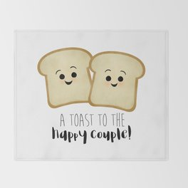 A Toast To The Happy Couple! Throw Blanket