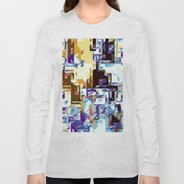 purple brown pink yellow and blue Long Sleeve T-shirt