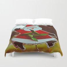 Santa greetings Duvet Cover