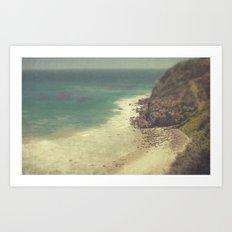 Vintage Malibu Beach Art Print