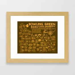 Bowling Green State University Map Framed Art Print