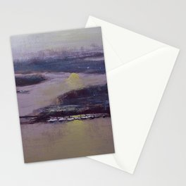 The bridge at sunset. Stationery Cards