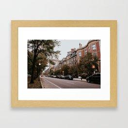 Boston Streets // Framed Art Print