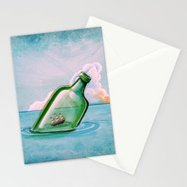 The Messenger - ship at sea Stationery Cards
