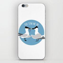 Tern me on iPhone Skin