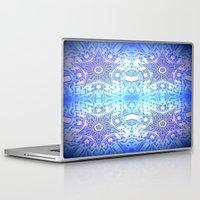 frozen Laptop & iPad Skins featuring Frozen Stars Periwinkle Lavender Blue by 2sweet4words Designs