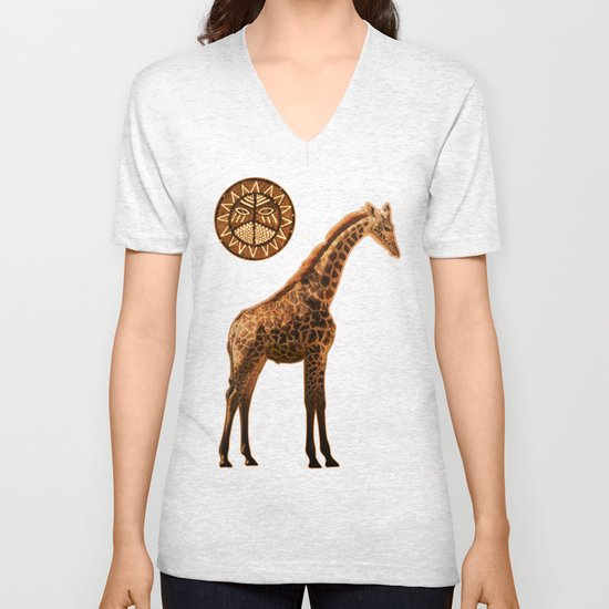 Three Giraffes Unisex V-Neck