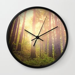 Peaceful Forest Wall Clock
