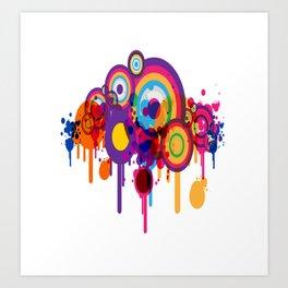 Color Paint Blobs Art Print