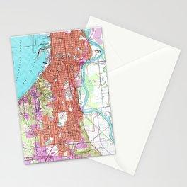 Vintage Map of Everett Washington (1953) Stationery Cards