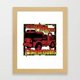 Firefighter Fire Truck Department Fire Engine Gift Framed Art Print