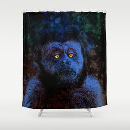 bored monkey wsml Shower Curtain