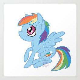 Rainbow Dash Chibi Art Print