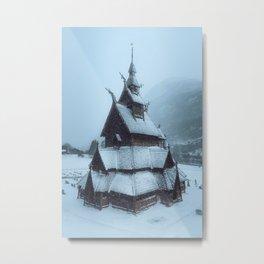 Borgund Stavkirke I Metal Print