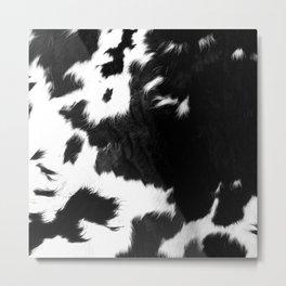 Rustic Cowhide Metal Print