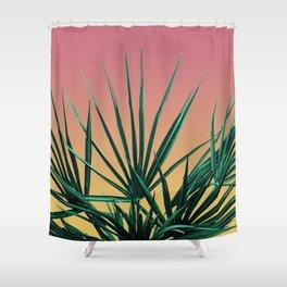 Vaporwave Palm Life - Miami Sunset Shower Curtain