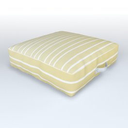 Simple Sunflower Yellow and Stripes Outdoor Floor Cushion