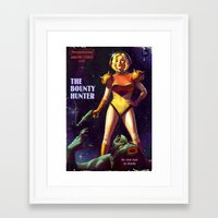 Framed Art Prints featuring The Bounty Hunter by Astor Alexander