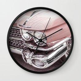 Blush Pink Vintage Car Wall Clock