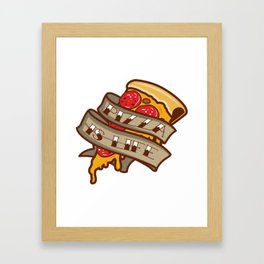 Pizza Is Life Pizza Slices Gift For Pizza Lover Framed Art Print