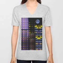 City Lights Unisex V-Neck