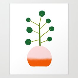 Chinese Money Plant Art Print