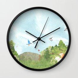 The view where common kingfishers live | Miharu Shirahata Wall Clock