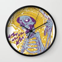 mexican Wall Clocks featuring Mexican death by Tshirt-Factory