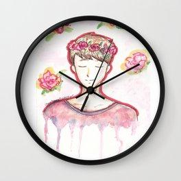 Dan Howell Flowers Wall Clock