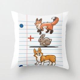 Corgi Math Throw Pillow