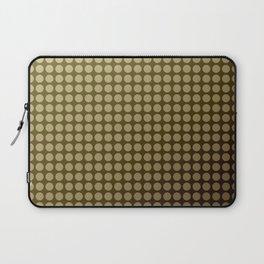 Olive green polka dot pattern . Laptop Sleeve