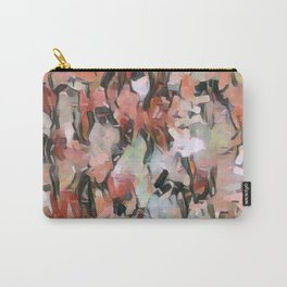 Abstract Confetti Landscape Peach Carry-All Pouch
