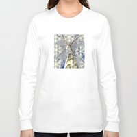 john snow Long Sleeve T-shirts featuring Snow worlds by Tanja Riedel