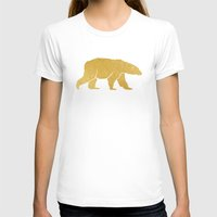 gold foil T-shirts featuring Gold Foil Polar Bear by Mod Pop Deco