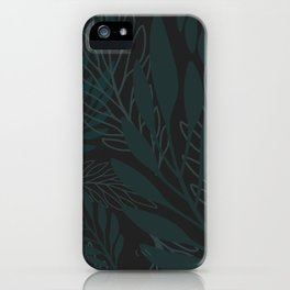 Modern Leaf Pattern for the Chic Nature Lover iPhone Case