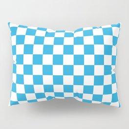 Oktoberfest Bavarian Large Blue and White Checkerboard Pillow Sham