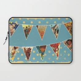 vintage circus acts and animals bunting flags Laptop Sleeve