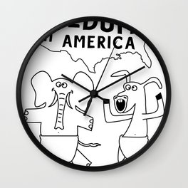 Freedumb in America Wall Clock