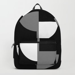 Climbing High - Grey and White on Black - Slices series Backpack