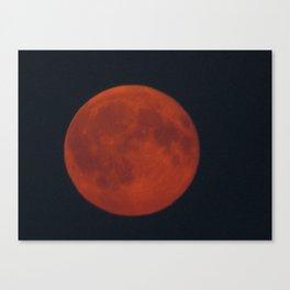 Flaming Moon Canvas Print