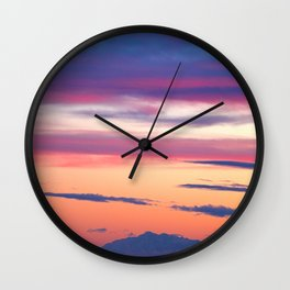 South Coast Sunset Wall Clock