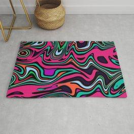 Cartoon colorful psychedelic Rug