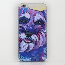 Schnauzer Pop Art Pet Portrait iPhone Skin