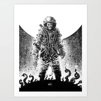 Zombonaut Art Print