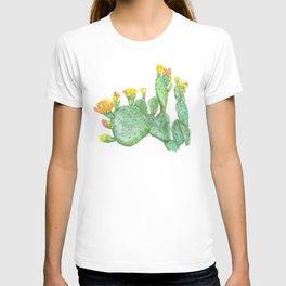 Prickly Pear Cactus Watercolor T-shirt