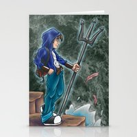 percy jackson Stationery Cards featuring Percy Jackson, the son of Poseidon by Yuri Meister