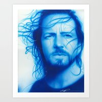 eddie vedder Art Prints featuring 'Vedder' by Christian Chapman Art